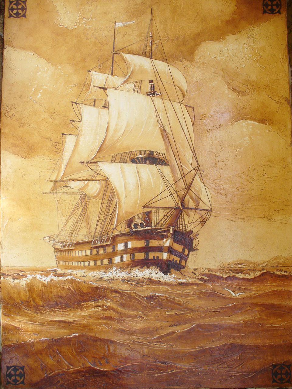 Корабль на стену своими руками 70
